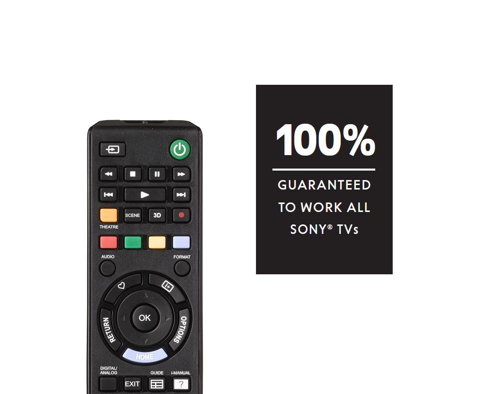 Sony TV Replacement Remote (URC1912)